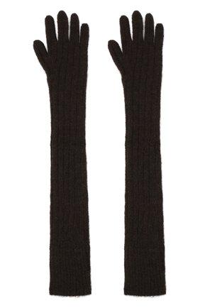 Женские шерстяные перчатки DRIES VAN NOTEN коричневого цвета, арт. 202-12211-1710 | Фото 2