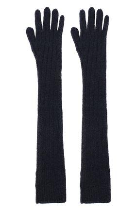 Женские шерстяные перчатки DRIES VAN NOTEN темно-синего цвета, арт. 202-12211-1710 | Фото 2