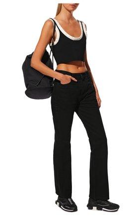 Женские текстильные кроссовки DOLCE & GABBANA черного цвета, арт. CK1823/AW478   Фото 2