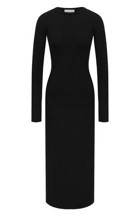 Женское шерстяное платье ERIKA CAVALLINI черного цвета, арт. W0/P/P0WD18 | Фото 1