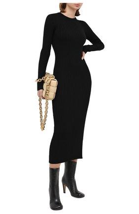 Женское шерстяное платье ERIKA CAVALLINI черного цвета, арт. W0/P/P0WD18 | Фото 2