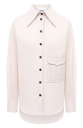Женская рубашка ERIKA CAVALLINI кремвого цвета, арт. W0/P/P0WH01 | Фото 1