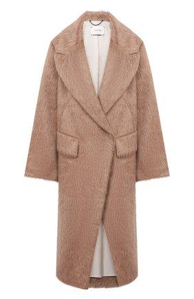 Женское шерстяное пальто DOROTHEE SCHUMACHER коричневого цвета, арт. 943001/PURE LUXURY | Фото 1