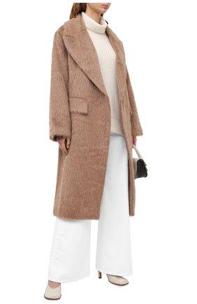 Женское шерстяное пальто DOROTHEE SCHUMACHER коричневого цвета, арт. 943001/PURE LUXURY | Фото 2