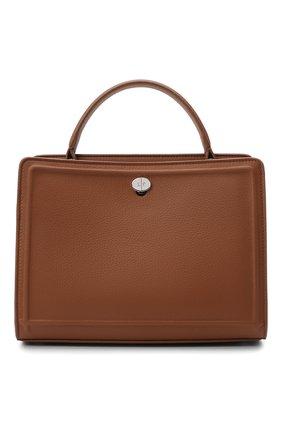 Женская кожаная сумка LORO PIANA коричневого цвета, арт. FAI8752 | Фото 1