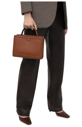 Женская кожаная сумка LORO PIANA коричневого цвета, арт. FAI8752 | Фото 2