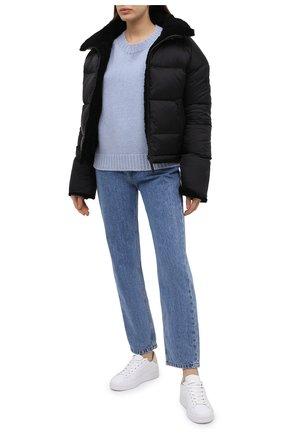 Женский кашемировый свитер LANVIN голубого цвета, арт. RW-T0694M-MR06-H20 | Фото 2