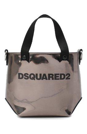 Женский сумка-шопер metallic mini DSQUARED2 бронзового цвета, арт. SPW0036 10000001 | Фото 1