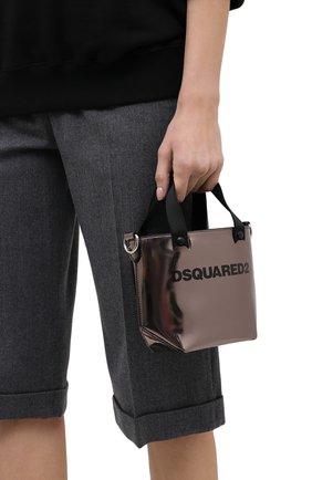 Женский сумка-шопер metallic mini DSQUARED2 бронзового цвета, арт. SPW0036 10000001 | Фото 2
