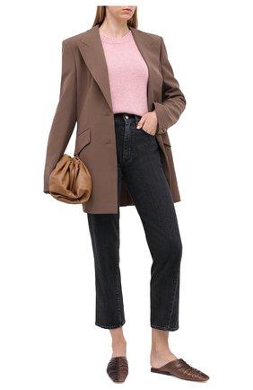 Женский кашемировый свитер NOT SHY розового цвета, арт. 3702530C   Фото 2