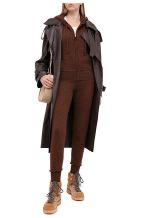 Женские кашемировые джоггеры NOT SHY коричневого цвета, арт. 3701008C | Фото 2