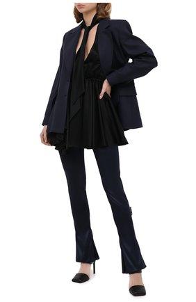 Женские брюки OFF-WHITE синего цвета, арт. 0WCA119F20FAB0024500   Фото 2