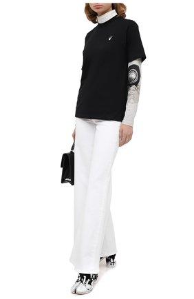 Женская хлопковая футболка OFF-WHITE черного цвета, арт. 0WAA049E20JER0091055   Фото 2