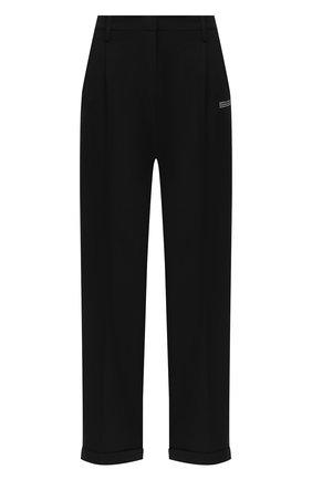 Женские брюки OFF-WHITE черного цвета, арт. 0WCA102E20FAB0021000   Фото 1