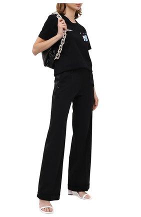 Женские брюки OFF-WHITE черного цвета, арт. 0WCA102E20FAB0021000   Фото 2