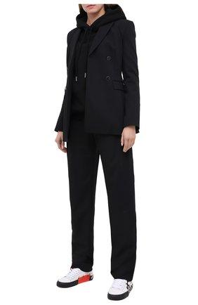 Женские брюки OFF-WHITE черного цвета, арт. 0WCA114E20FAB0021000   Фото 2