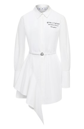 Женское хлопковое платье OFF-WHITE белого цвета, арт. 0WDB216E20FAB0030110 | Фото 1