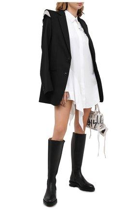 Женское хлопковое платье OFF-WHITE белого цвета, арт. 0WDB216E20FAB0030110 | Фото 2