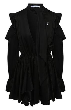 Женское платье OFF-WHITE черного цвета, арт. 0WDB254E20FAB0011001 | Фото 1