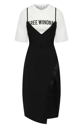 Женское платье OFF-WHITE черного цвета, арт. 0WDB260E20FAB0011010 | Фото 1