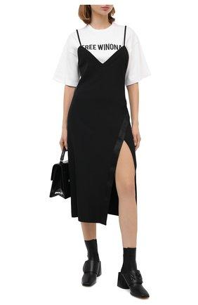 Женское платье OFF-WHITE черного цвета, арт. 0WDB260E20FAB0011010 | Фото 2