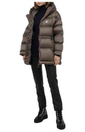 Женский пуховая куртка OFF-WHITE хаки цвета, арт. 0WEA211E20FAB0016301 | Фото 2