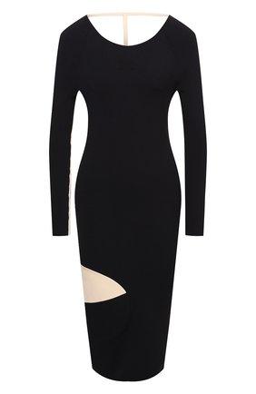Женское платье из вискозы OFF-WHITE черного цвета, арт. 0WHI041F20KNI0011061 | Фото 1