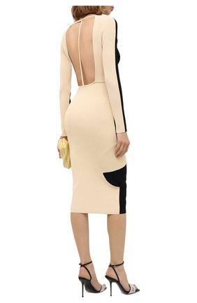 Женское платье из вискозы OFF-WHITE черного цвета, арт. 0WHI041F20KNI0011061 | Фото 2