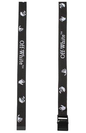 Женский текстильный ремень OFF-WHITE черно-белого цвета, арт. 0WRB034E20FAB0011001 | Фото 2