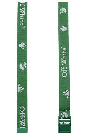 Женский текстильный ремень OFF-WHITE зеленого цвета, арт. 0WRB034E20FAB0015501 | Фото 2