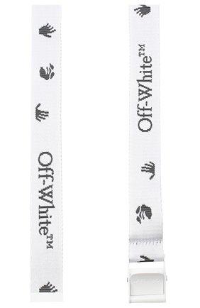 Женский текстильный ремень OFF-WHITE белого цвета, арт. 0WRB035E20FAB0010110 | Фото 2