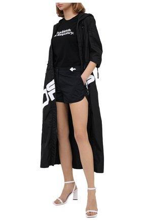 Женские шорты OFF-WHITE черного цвета, арт. 0WVH013E20FAB0011000 | Фото 2