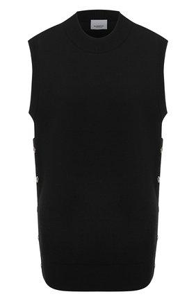 Женский шерстяной жилет BURBERRY черного цвета, арт. 8030048 | Фото 1