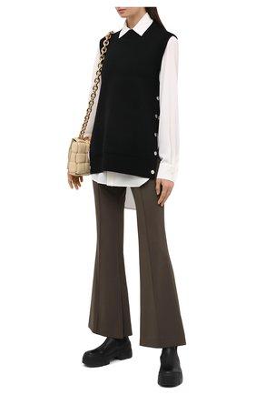 Женский шерстяной жилет BURBERRY черного цвета, арт. 8030048 | Фото 2