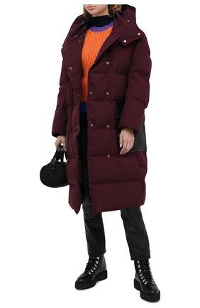 Женский пуховик MARNI бордового цвета, арт. PIMA0036Q0/TP679 | Фото 2