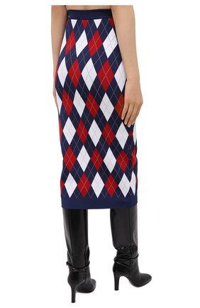Женская юбка из вискозы BALMAIN разноцветного цвета, арт. UF04484/K196   Фото 4