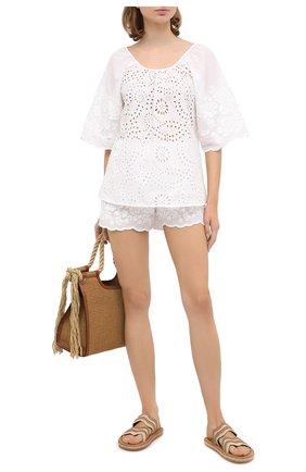 Женские хлопковые шорты EVA B.BITZER белого цвета, арт. 10312245 | Фото 2