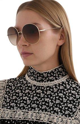 Женские солнцезащитные очки CHLOÉ коричневого цвета, арт. 171S-891   Фото 2