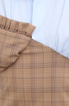 Женское платье ACT N1 разноцветного цвета, арт. PFD2002   Фото 5 (Рукава: Длинные; Длина Ж (юбки, платья, шорты): Мини; Случай: Повседневный; Женское Кросс-КТ: Платье-одежда; Стили: Кэжуэл)