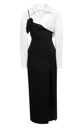 Женское платье ACT N1 черно-белого цвета, арт. PFD2003 | Фото 1