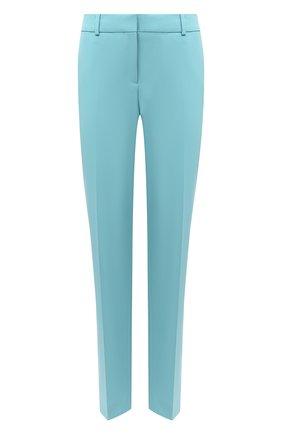 Женские шерстяные брюки BOSS бирюзового цвета, арт. 50440619 | Фото 1