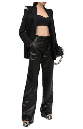 Женские кожаные брюки TOM FORD черного цвета, арт. PAL706-LEX228 | Фото 2