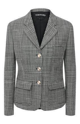 Женский шерстяной жакет TOM FORD черно-белого цвета, арт. GI2790-FAX763 | Фото 1