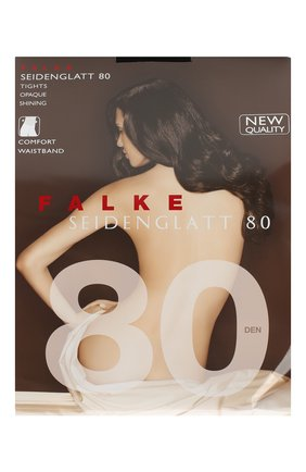Женские колготки seidenglatt 80 FALKE черного цвета, арт. 40480 | Фото 1
