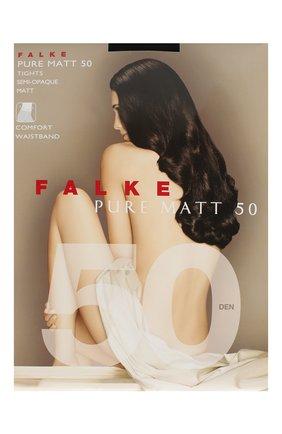 Женские колготки pure matt 50 FALKE черного цвета, арт. 40150 | Фото 1