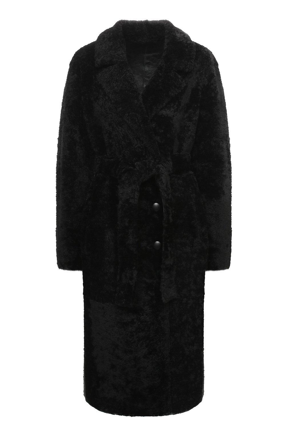 Женская шуба из овчины ANNE VEST черного цвета, арт. AW20/01/202/01/CL0E   Фото 1 (Женское Кросс-КТ: Мех; Рукава: Длинные; Материал внешний: Натуральный мех; Длина (верхняя одежда): Длинные; Стили: Кэжуэл)