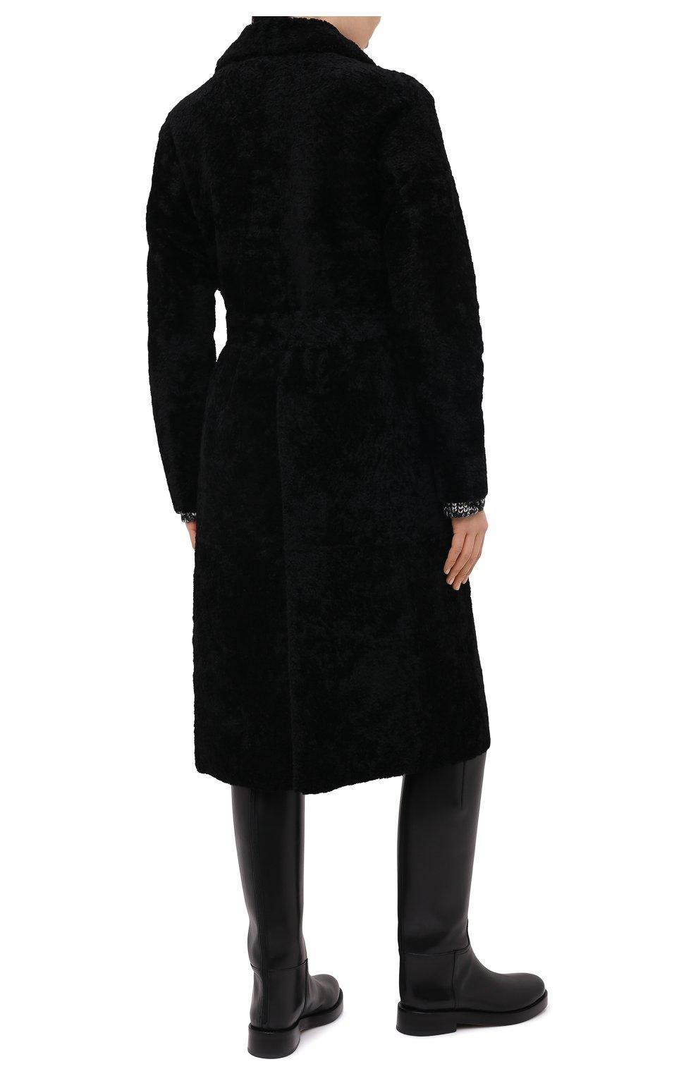 Женская шуба из овчины ANNE VEST черного цвета, арт. AW20/01/202/01/CL0E   Фото 4 (Женское Кросс-КТ: Мех; Рукава: Длинные; Материал внешний: Натуральный мех; Длина (верхняя одежда): Длинные; Стили: Кэжуэл)