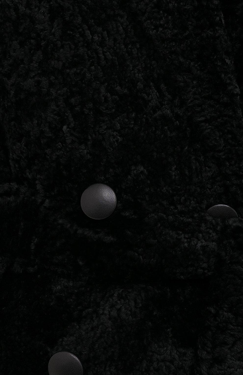 Женская шуба из овчины ANNE VEST черного цвета, арт. AW20/01/202/01/CL0E   Фото 5 (Женское Кросс-КТ: Мех; Рукава: Длинные; Материал внешний: Натуральный мех; Длина (верхняя одежда): Длинные; Стили: Кэжуэл)