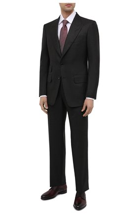 Мужские кожаные дерби ZILLI бордового цвета, арт. MDU-B073/0A2 | Фото 2