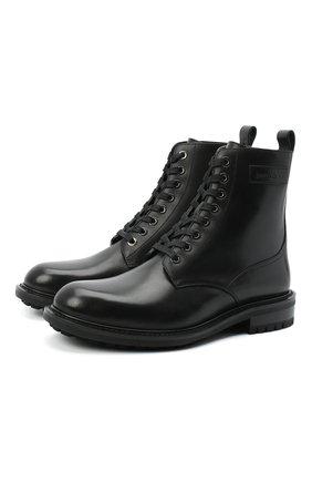 Мужские кожаные ботинки turing JIMMY CHOO черного цвета, арт. TURING/M/VAT | Фото 1